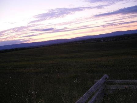 Shenandoah Sunset Outside of Strasburg, VA
