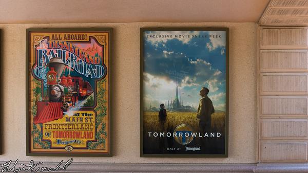 Disneyland Resort, Disneyland, Main Street U.S.A., Tomorrowland, Theater, Poster, Tunnel