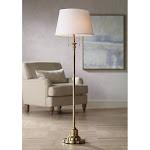 Spenser Brushed Antique Brass Floor Lamp - Style # 35E33