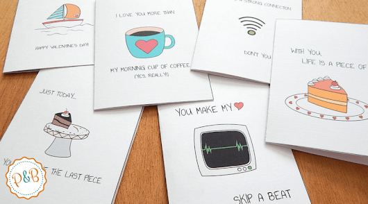 Funny and clever Valentine's day cards free printable