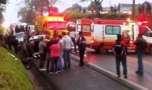 Ultrapassagem indevida gera acidente na BR-277