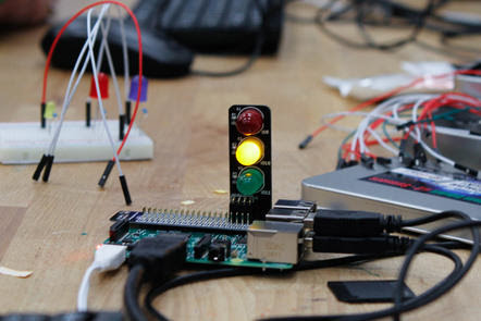 Teaching Physical Computing with Raspberry Pi and Python