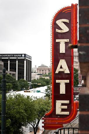 The Stateside Theatre sign, which dates back to 1935, has been restored to its former glory and will light the night sky beginning Wednesday.
