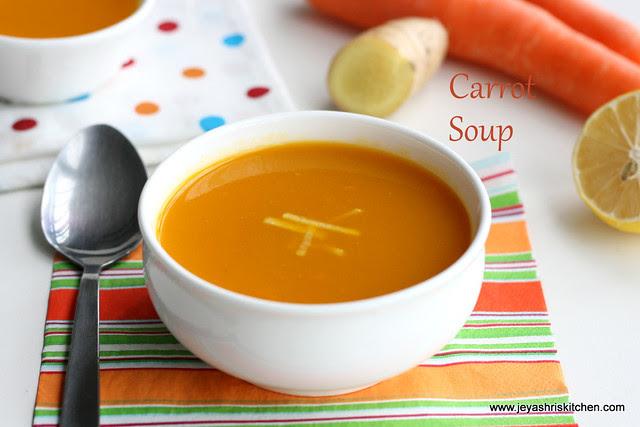 Carrot soup 1
