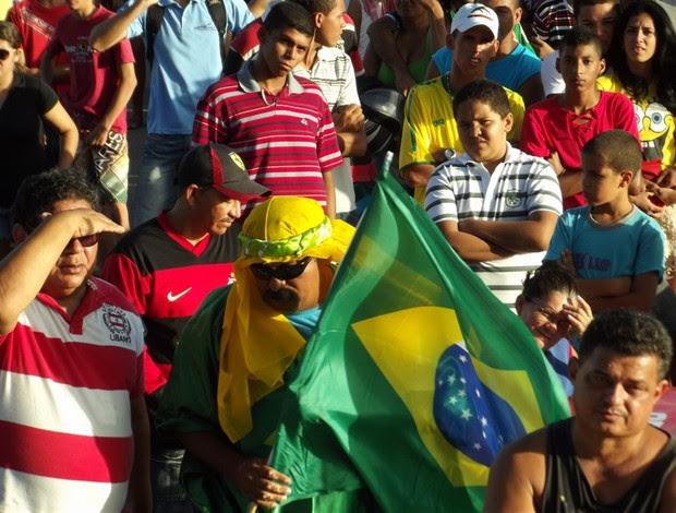 Potiguares comemoraram a segunda vitória do Brasil na Copa das Confederações (Foto: Ferreira Neto)