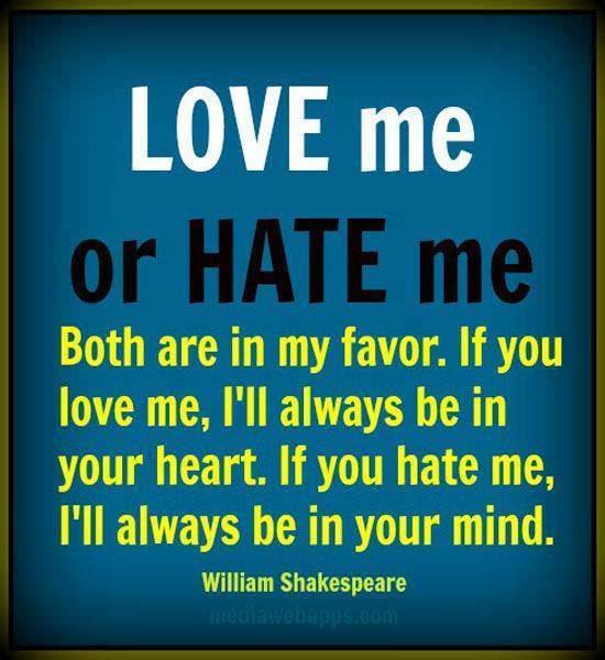 Love Me Or Hate Me Spirituality Babamail