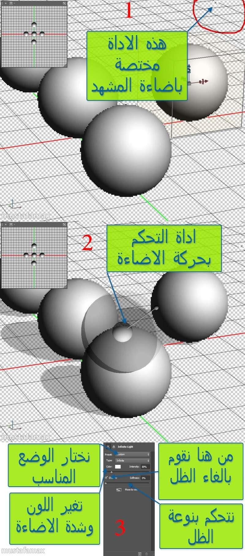 شرح الأضافة 3d في الفوتوشوب cs6