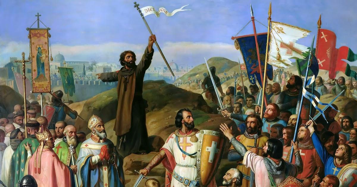 Gandalf's Gallery: Jean-Victor Schnetz - Procession of Crusaders Around  Jerusalem, July 14, 1099 [1841]