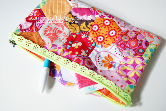 Carina's Craftblog: Hexie pouch and maybe some fabric shopping