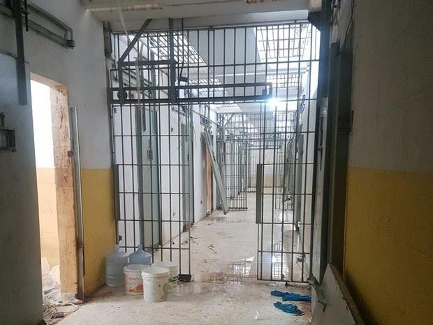 Celas foram quebradas durantes as rebeliões nos últimos dias (Foto: G1 RN)