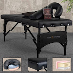 Earthlite Inner Strength Premium Ultimate Portable Home Massage Table Package Black