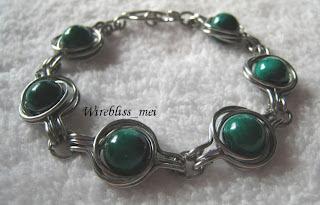 Wire Wrapped TAW Malachite Bracelet