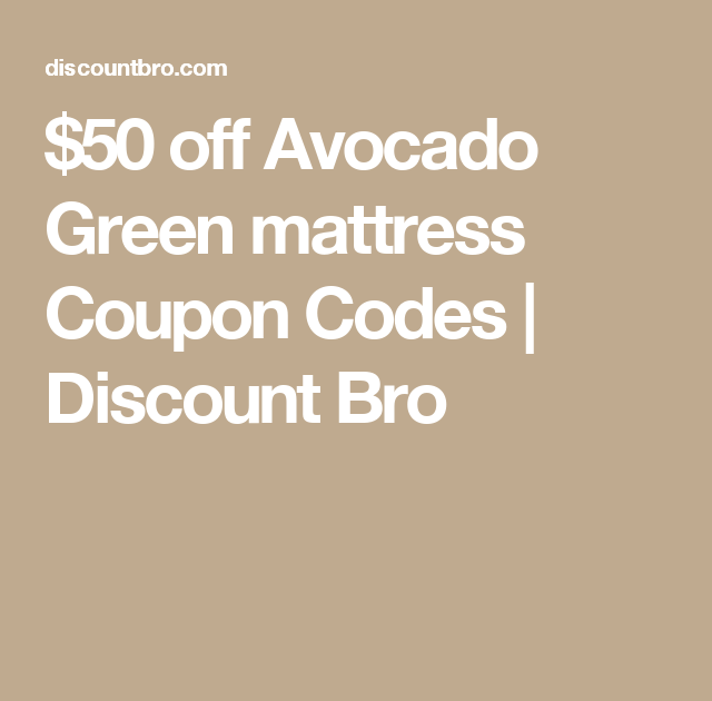 avocado green mattress coupon