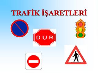 Trafik Işaretleri Boyama Sayfası