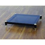 VTI BLG404GB-01 BLG Series AMP Stand (Gold Cap Black Pole Black Glass)
