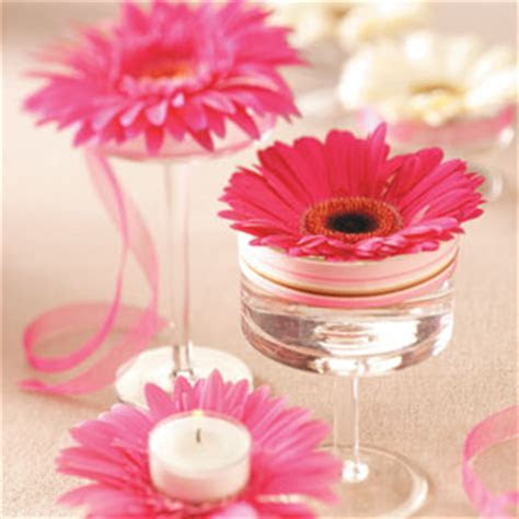 Beautiful Bridal: Gerbera Daisy Centerpieces