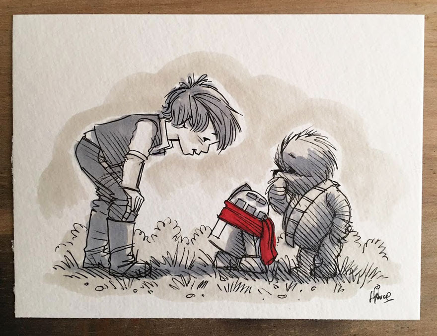 dibujos-mezcla-winnie-pooh-guerra-galaxias-james-hance (1)