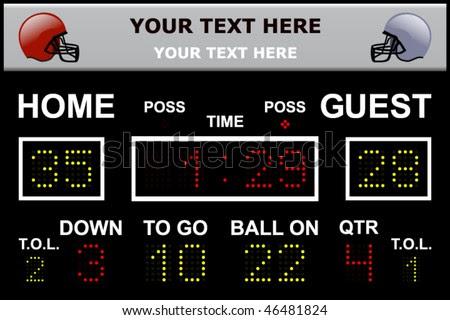 Vector Illustration Led Football Scoreboard Fully Stock Vector ...