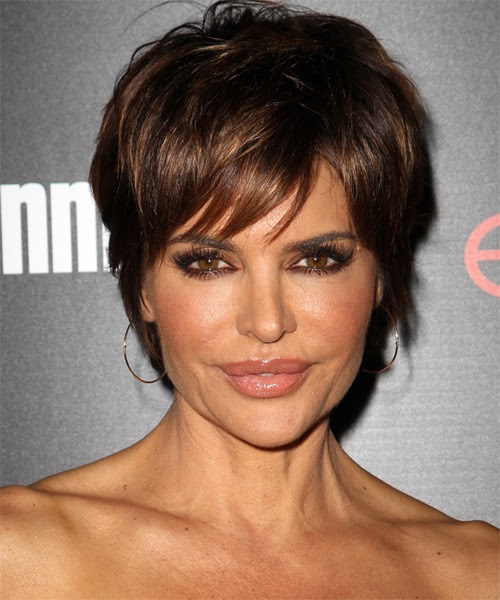 Hairstyles Lisa Rinna Hairstyle Casual Short Straight