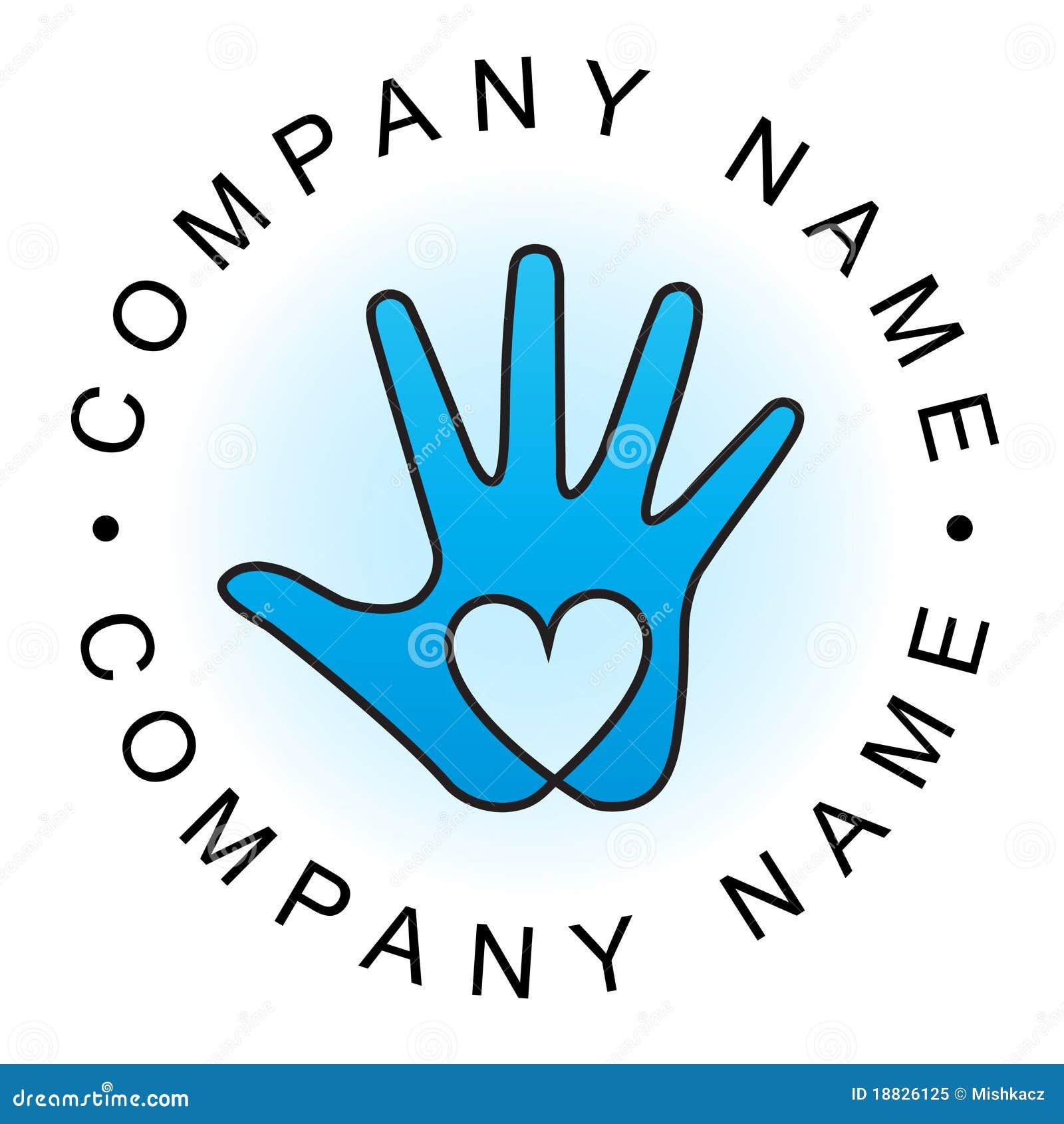 Heart Hand Logo Royalty Free Stock Photo - Image: 18826125