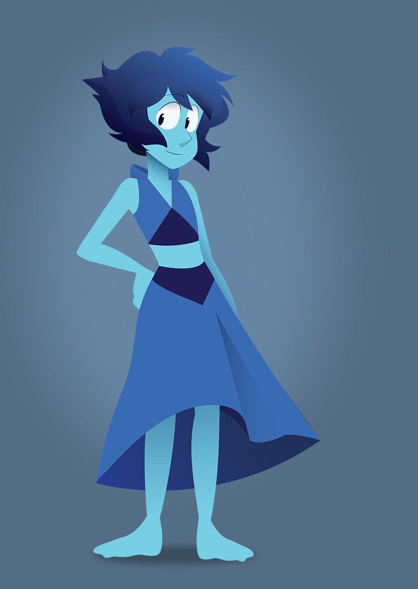 The water witch herself. I took a garbage sketch of Lapis I did and made a garbage vector. I hate Lapis as a person, but damn it I love her design. She's so nice and easy to draw.