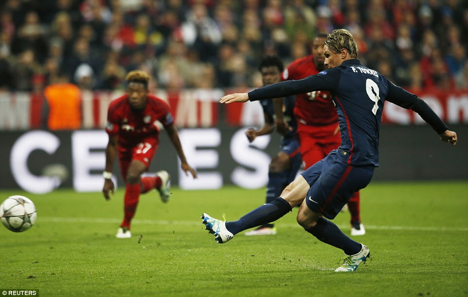 Torres saw a second penalty of the game saved after Neuer got down low to palm his effort away from the penalty box