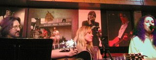 Jeff Knight (not pictured), Curtis Wright, Sara Beck and Donna Ullisse performing at the Bluebird Cafe in Nashville