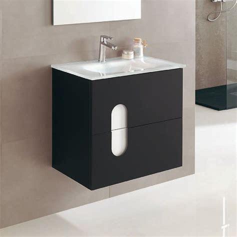meuble salle de bain  cm  tiroirs plan vasque verre