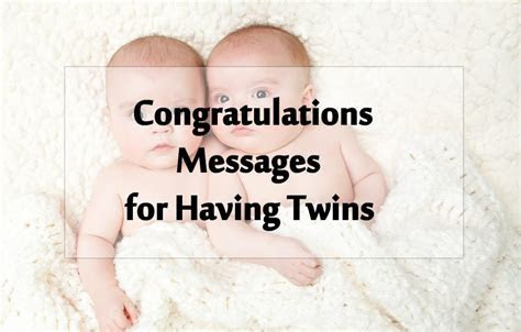 Twin Baby Congratulation Messages   Wishes for Twins
