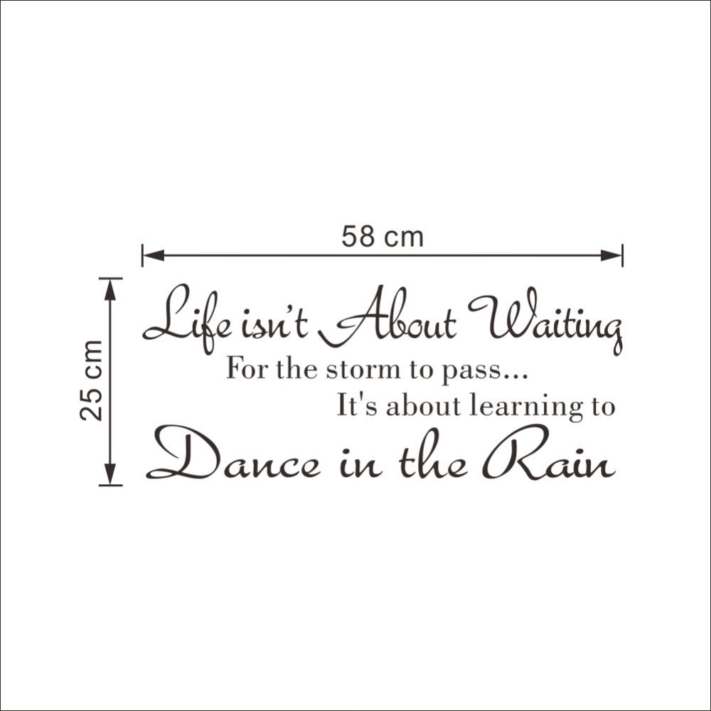 Inspirational Wall Decal Life Isnt About Waiting For The Storm To