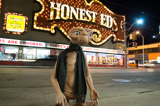 E.T. roams the streets of Toronto