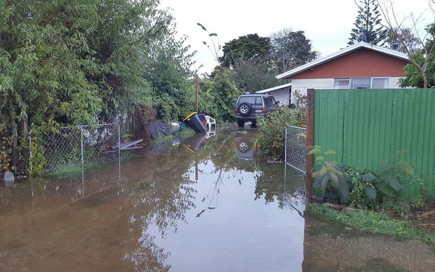 Flooding on High St in Motueka