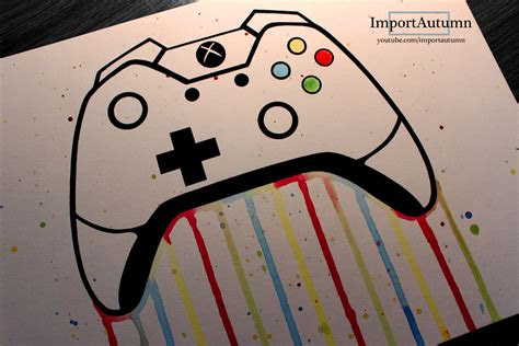 daily drawing  xbox  controller youtube