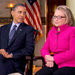 President Obama and Hillary Rodham Clinton, the secreatary of state, made a joint appearance on CBS's