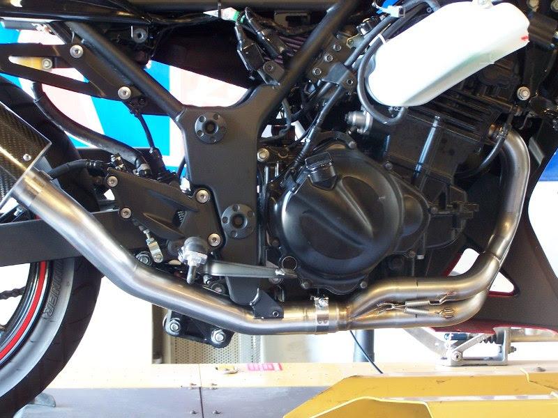 Kawasaki Ninja 250r Mid High Mount Race Slip On Exhaust