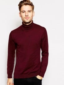 Selected Cotton Roll Neck Jumper