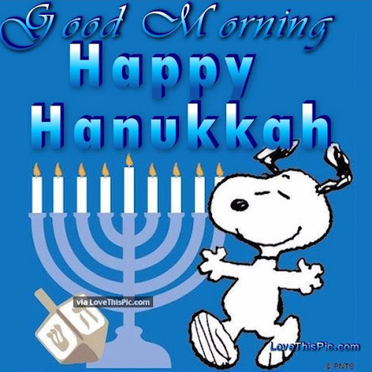 Image: Snoopy Good Morning Happy Hanukkah Pictures, Photos, and Images ...
