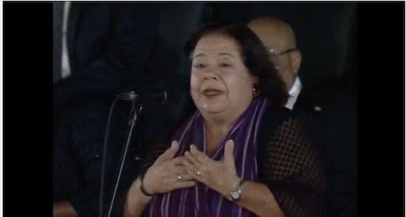 La actriz Corina Mestre.