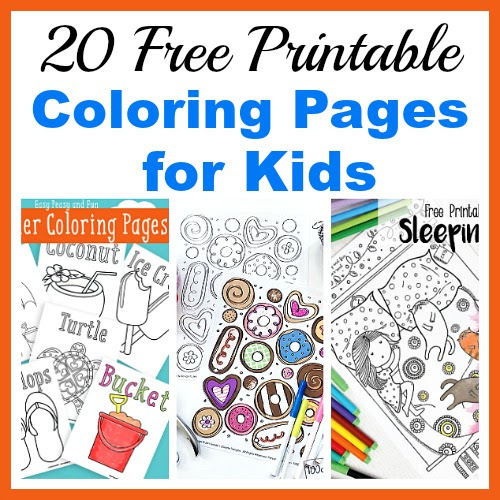 20 Free Printable Coloring Pages for Kids- Coloring Pages for All Seasons!