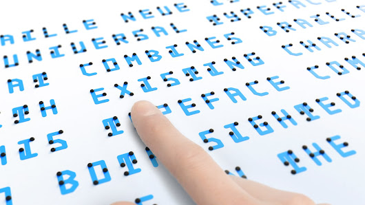 This New Typeface Merges Braille You Can Touch With Letters You Can Se