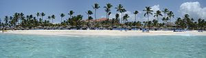 Panoramic view of a beach in Punta Cana, Domin...