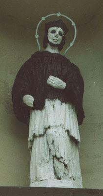 Radoszyce. Kaplica św. Rocha. Drewniana rzeźba św. Nepomucena