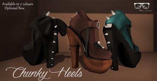 Riske - Chunky Heels WC3