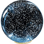 Lighted Mercury Glass Ball Sphere Holiday Home Decor - Nightlight Accent Light - Blue - Large