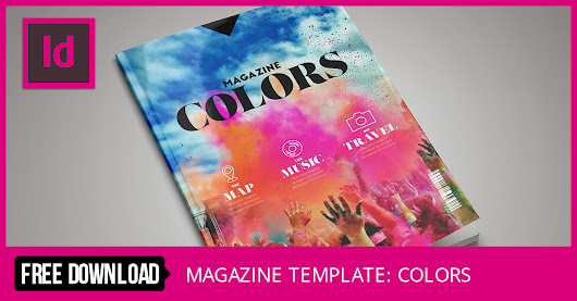 Colors: FREE InDesign Magazine Template