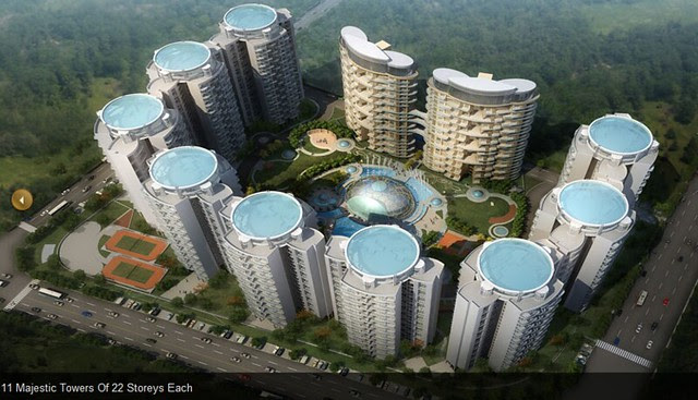 Elevation Layout of 22 Story 11 Towers in Monarch Renaissance Wakad Pune