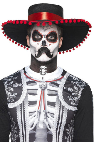 Day Of The Dead Senor Bones Temporary Tattoo And Make Up Set