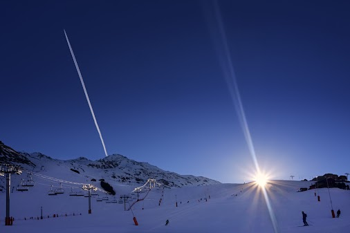 SUNRISE ON THE SKISLOPES by adventure with the Fujifilm X-A3