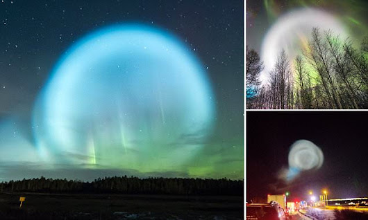 Huge glowing ball over northern Siberia sparks UFO fears | Daily Mail Online