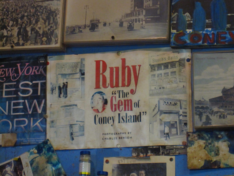 Behind the bar at Ruby's